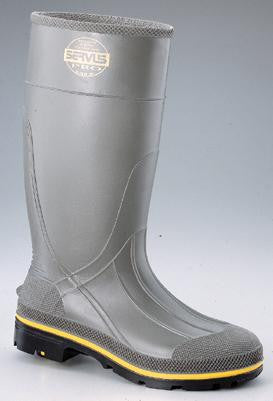 "Servus by Honeywell Size 13 PRO Gray 15"" Chemical Resistant Safety Kneeboots With Dual Compound Outsole And Steel Toe"