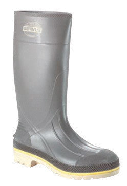 "Servus by Honeywell Size 8 PRO+ Gray 15"" Chemical Resistant Safety Kneeboots With Advanced Tread Sole And Steel Toe"