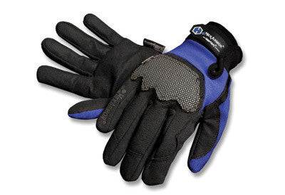 HexArmor Small Black And Blue Ultimate L5 SuperFabric Mechanic's Style Cut Resistant Gloves With Hook And Loop Closure And Synthetic Leather Palm
