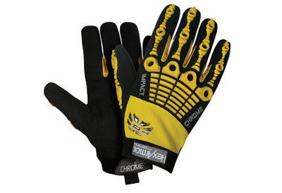 HexArmor Medium Black And Yellow Chrome Series Cut 5 Impact 360Î_ SuperFabric Cut Resistant Gloves With Synthetic Leather Palm