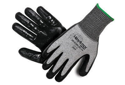 HexArmor Size 8 Black And Gray Level 6 Series SuperFabric Cut Resistant Gloves With Flat Nitrile Palm Coating