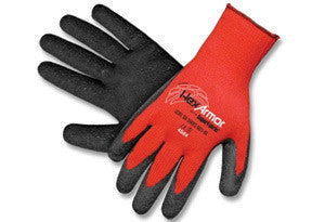 HexArmor Small Red And Black Level 6 Series SuperFabric Cut Resistant Gloves With Wrinkle Rubber Palm Coating