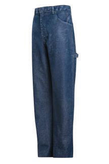 "Bulwark Blue 38"" X 32"" Flame Resistant Dungarees"