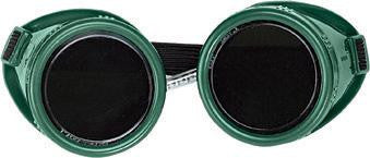 Radnor Welding Goggles With Green Hard Plastic Frame And Shade 5 Green 50mm Round Lens