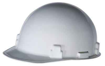 Radnor White SmoothDome Class E Type I Polyethylene Slotted Hard Cap With Ratchet Suspension