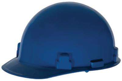 Radnor Blue SmoothDome Class E Type I Polyethylene Slotted Hard Cap With Ratchet Suspension