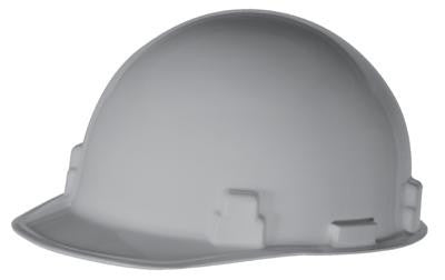 Radnor Gray SmoothDome Class E Type I Polyethylene Slotted Hard Cap With Ratchet Suspension