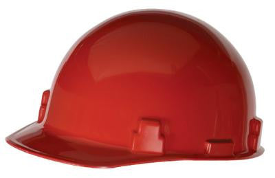 Radnor Red SmoothDome Class E Type I Polyethylene Slotted Hard Cap With Ratchet Suspension