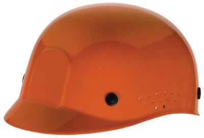 Radnor Orange Polyethylene Bump Cap  With Adjustable Headband