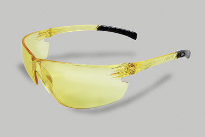 Radnor Classic Plus Series Safety Glasses With Amber Frame And Amber Polycarbonate Hard Coat Anti-Fog Lens