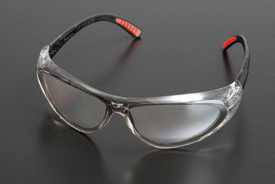 Radnor Action Series Safety Glasses With Clear Frame And Clear Lens
