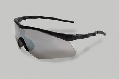 Radnor Sport Series Safety Glasses With Black Frame And Silver Anti-Scratch Mirror Lens