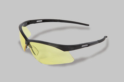 Radnor Premier Series Safety Glasses With Black Frame And Amber Polycarbonate Lens