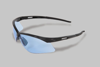 Radnor Premier Series Safety Glasses With Black Frame And Blue Polycarbonate Lens