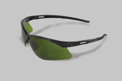 Radnor Premier Series IR Safety Glasses With Black Frame And Green And Shade 3 Polycarbonate Lens