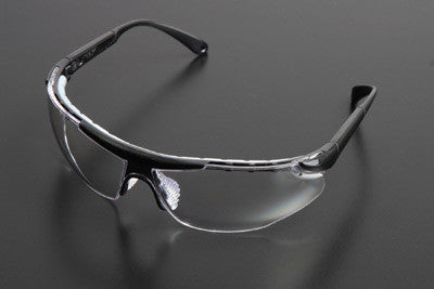 Radnor Elite Plus Series Safety Glasses With Black Frame And Clear Lens