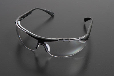 Radnor Elite Plus Series Safety Glasses With Black Frame And Clear Anti-Fog Lens