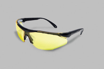 Radnor Elite Plus Series Safety Glasses With Black Frame And Amber Lens