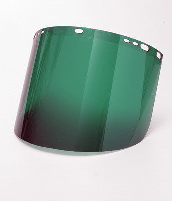 "Radnor 8"" X 15 1/2"" X .060"" Green Shade 3 Polycarbonate Faceshield (50 Per Case)"