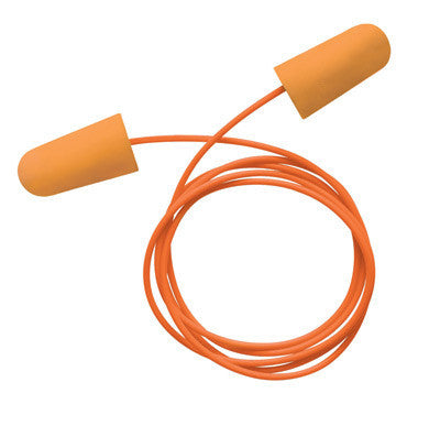 Radnor Single Use Tapered Orange Polyurethane And Foam Corded Earplugs (100 Pair Per Box)