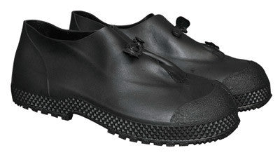 "Radnor Large Black 4"" PVC Slip-On Overboots With Self-Cleaning Tread Outsole"