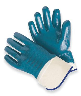Radnor Large Heavy Weight Nitrile Fully Coated Jersey Lined Work Glove With Safety Cuff (144 Pair Per Case)