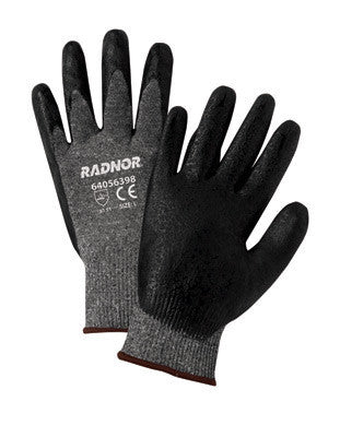 Radnor Large Black Premium Foam Nitrile Palm Coated Work Glove With 15 Gauge Seamless Nylon Liner And Knit Wrist