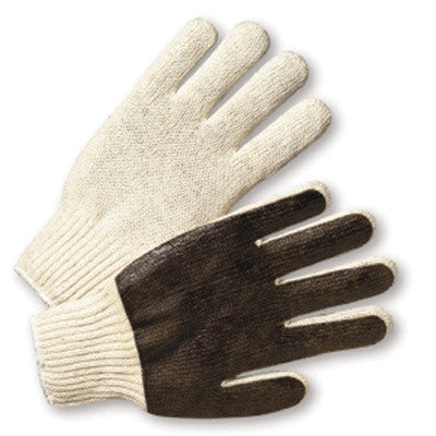 Radnor Ladies' Medium-Weight Cotton/Poly String Knit Glove With PVC Coated Palm
