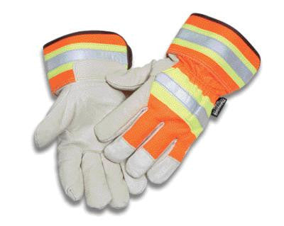 Radnor X-Large Orange And Gray Pigskin And Polyester Thinsulate Lined Cold Weather Gloves With Wing Thumb And Safety Cuffs
