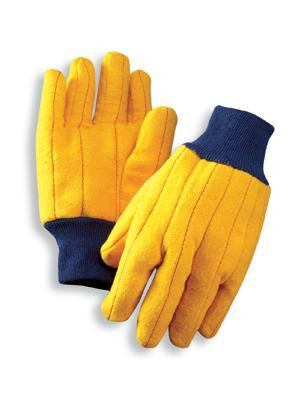 Radnor Men's Gold 18 Ounce Cotton/Polyester Blend Chore Gloves With Knitwrist And Standard Lining