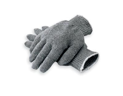 Radnor Ladies Gray Medium Weight Polyester/Cotton Ambidextrous String Gloves With Knit Wrist