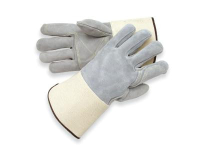 Radnor X-Large Side Split Leather Palm Gloves With Gauntlet Cuff, Full Leather Back And Double Leather On Palm, Fingers And Thumb