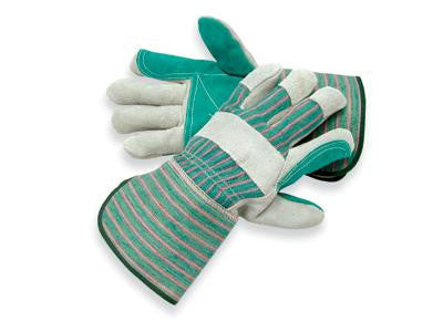 Radnor Large Shoulder Grade Double Leather Palm Gloves With Gauntlet Cuff, Double Leather On Palm, Index Finger And Thumb