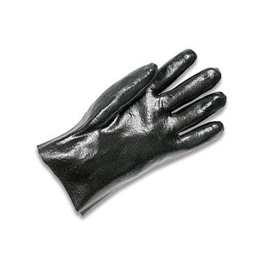 "Radnor Large Black 10"" Economy PVC Glove Fully Coated With Rough Finish Palm"