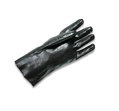 "Radnor Large Black 14"" Economy PVC Glove Fully Coated With Smooth Finish Palm"
