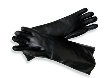 Radnor Large Black Elbow Length Economy PVC Glove Fully Coated With Smooth Finish Palm