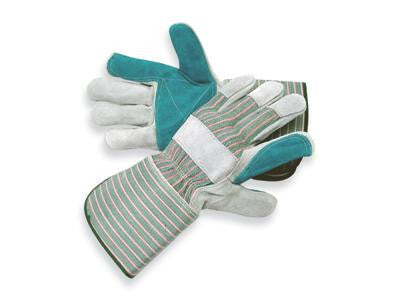 Radnor Large Premium Select Double Leather Palm Gloves With Gauntlet Cuff, Double Leather On Palm, Index Finger And Thumb