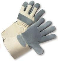 Radnor Large Premium Side Split Double Leather Palm Gloves With Gauntlet Cuff, Double Leather On Palm, Index Finger And Thumb