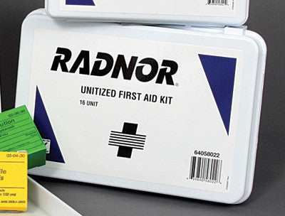 Radnor 16 Person Unitized First Aid Kit In Plastic Case