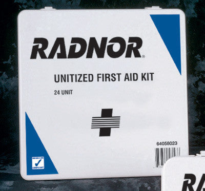 Radnor 24 Person Unitized First Aid Kit In Plastic Case