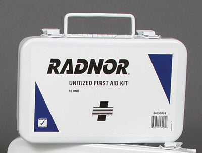 Radnor 10 Person Unitized First Aid Kit In Metal Case