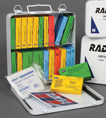 Radnor 24 Person Unitized First Aid Kit In Metal Case