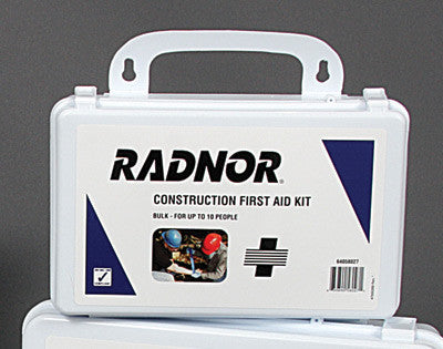 Radnor 10 Person Bulk Construction First Aid Kit In Plastic Case