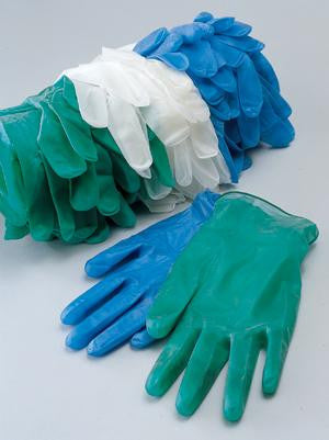 Radnor Medium Green 6.5 mil Vinyl Non-Sterile Lightly Powdered Disposable Gloves (100 Gloves Per Dispenser Box)