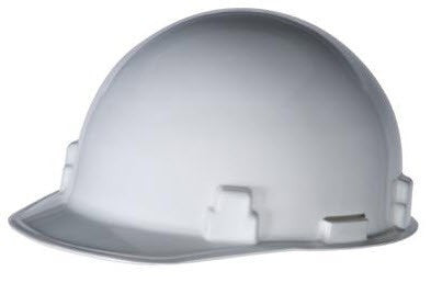 Radnor White SmoothDome Class E Type I Polyethylene Slotted Hard Cap With Standard Suspension