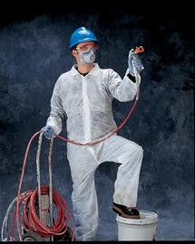 Radnor 3X White Spunbond Polypropylene Disposable Coveralls With Front Zipper Closure