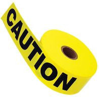 "Radnor 3"" X 1000' Yellow 2 Mil Barricade Tape ""Caution"""