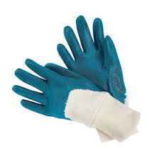 Radnor Large Heavy Weight Nitrile Palm Coated Jersey Lined Work Glove With Safety Cuff (144 Pair Per Case)