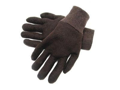 Radnor Ladies Brown 9 Ounce Reversible Cotton/Polyester Blend Jersey Gloves With Knitwrist