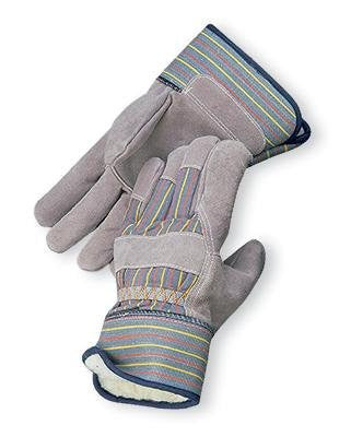Radnor Large Pile Lined Cold Weather Gloves With Safety Cuffs